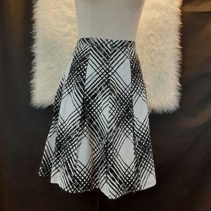 TALBOTS White and Black Skirt Size 12